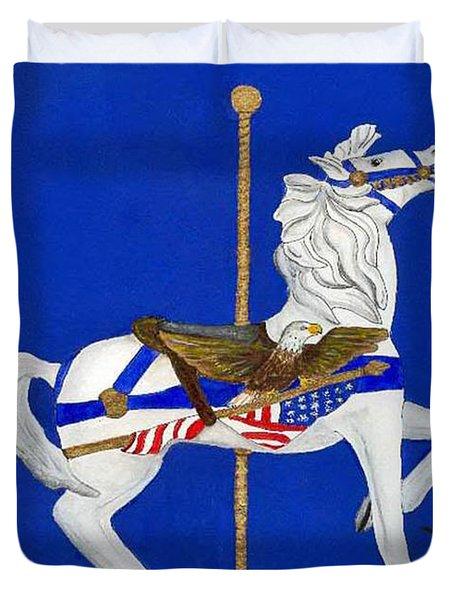 Carousel Horse #1 Duvet Cover