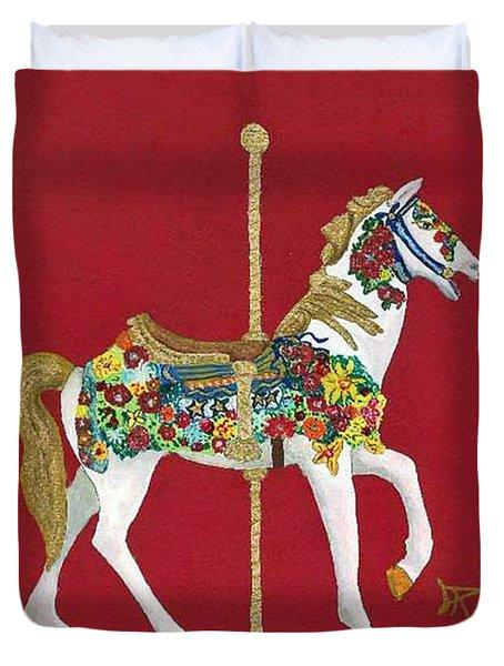 Carousel Horse #2 Duvet Cover