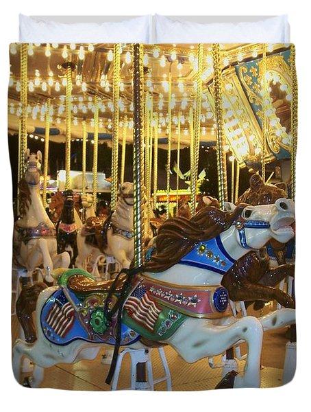 Carousel Horse 3 Duvet Cover