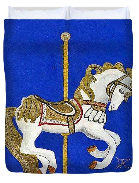 Carousel Horse #3 Duvet Cover