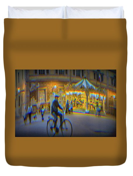 Carousel Lucca Italy Duvet Cover