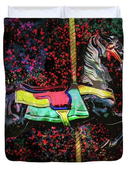 Carousel Number 16 Duvet Cover