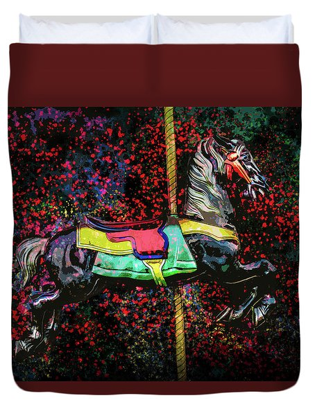 Carousel Number 16 Duvet Cover