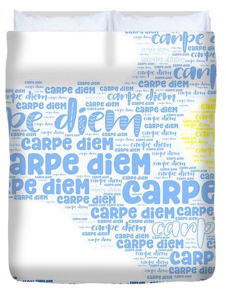Duvet Cover featuring the digital art Carpe Aestatem by Bee-Bee Deigner