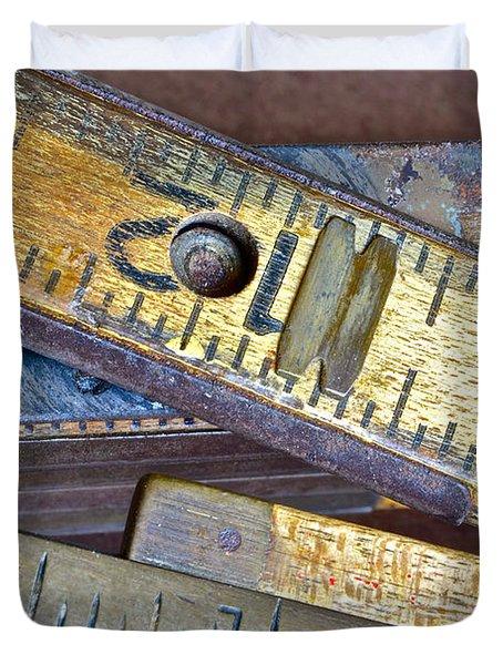 Carpenter's Rule Duvet Cover