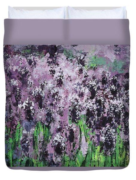 Carpet Of Lavender Duvet Cover