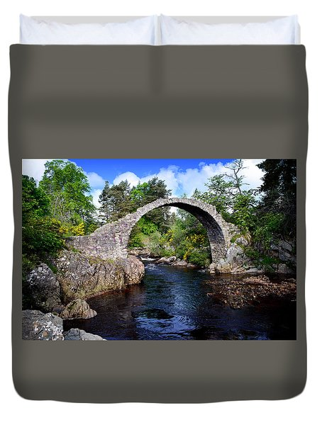 Carr Bridge Scotland Duvet Cover