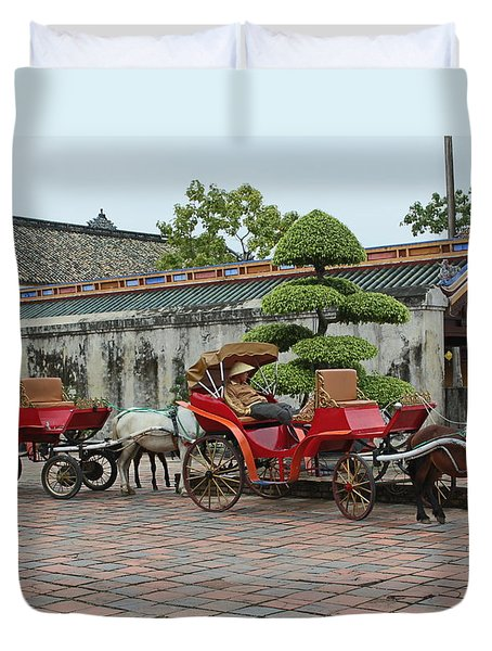 Carriage Rides Duvet Cover