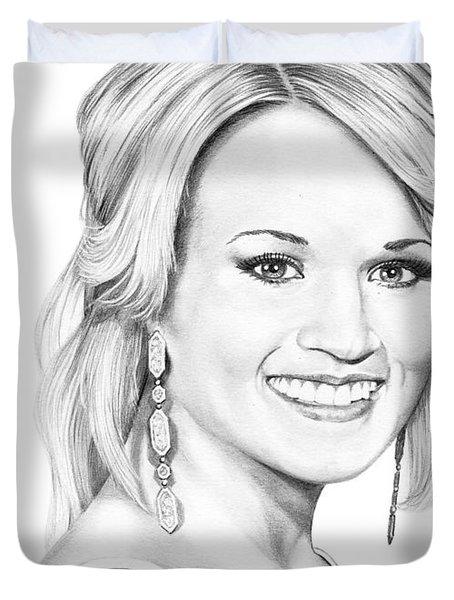 Carrie Underwood Duvet Cover by Murphy Elliott