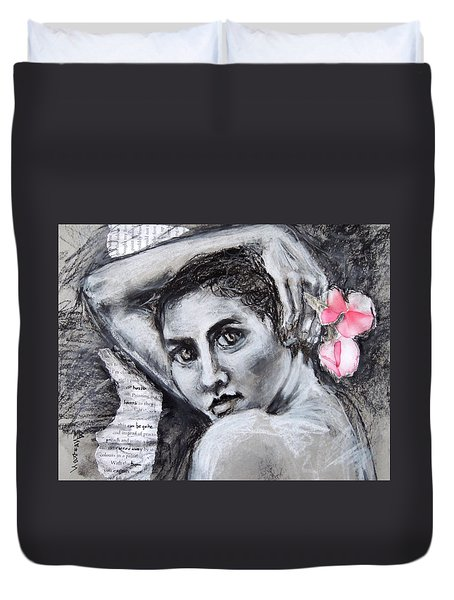 Carried Away Duvet Cover by Mary Schiros