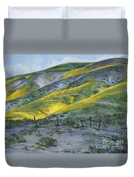Carrizo Spring Mustard Duvet Cover