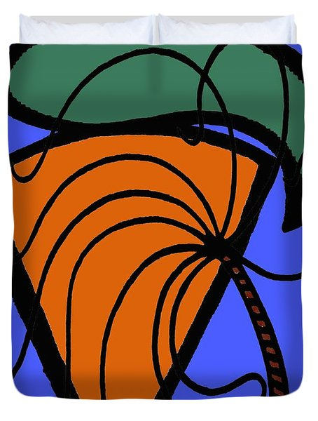 Carrot And Stick Duvet Cover by Patrick J Murphy