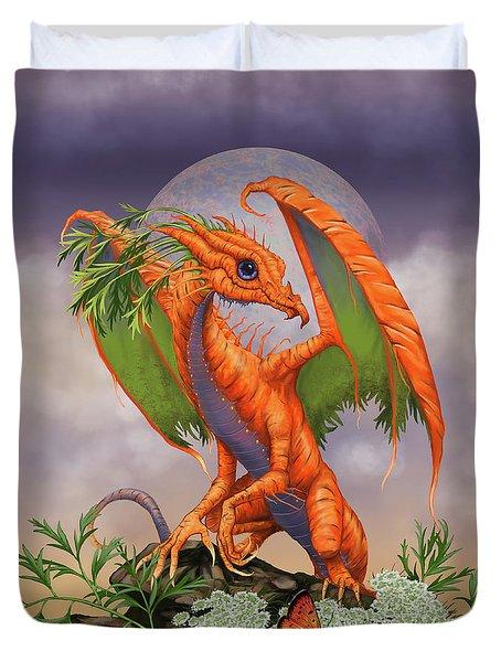 Carrot Dragon Duvet Cover