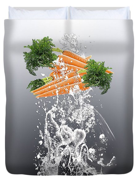 Carrot Splash Duvet Cover