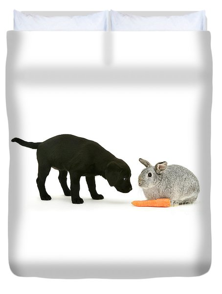 Duvet Cover featuring the photograph Carrots Are For Pups, Too by Warren Photographic