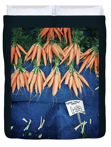 Carrots At The Market Duvet Cover