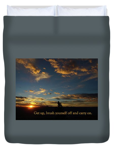Carry On Sunrise Duvet Cover by DeeLon Merritt