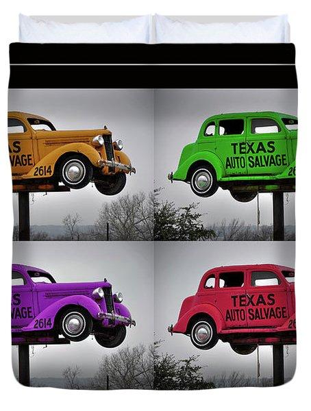 Cars Duvet Cover by Joan Carroll