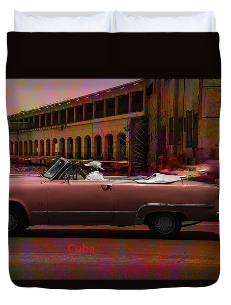 Cars Of Cuba Duvet Cover by Will Burlingham
