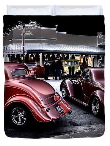 Cars On The Strip Duvet Cover