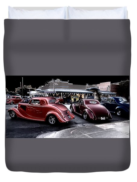 Cars On The Strip Duvet Cover