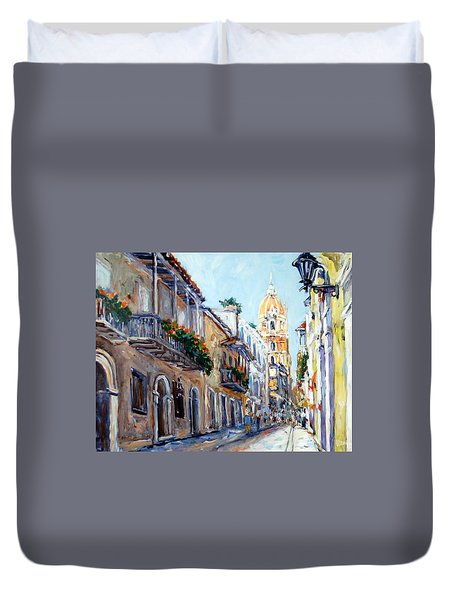Cartagena Colombia Duvet Cover