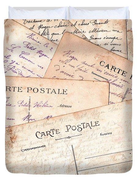Cartes Postales Duvet Cover