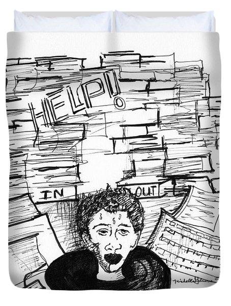 Cartoon Inbox Duvet Cover
