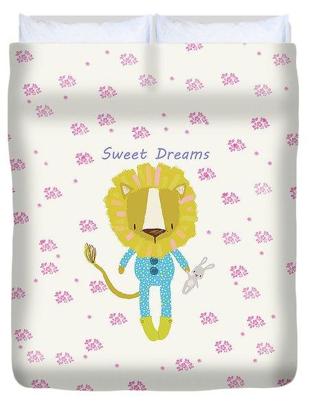 Cartoon Sweet Dreams Lion Duvet Cover