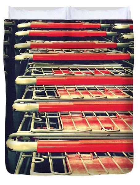 Carts Duvet Cover