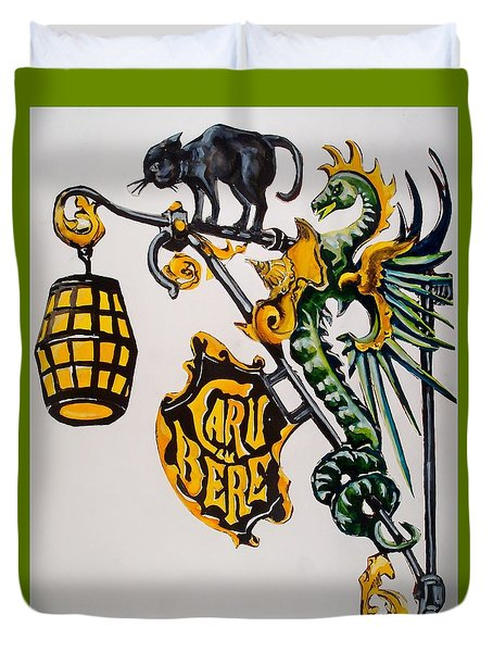 Caru Cu Bere - Antique Shop Sign Duvet Cover