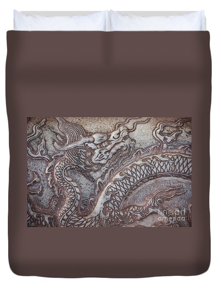Carved Dragon Duvet Cover by Carol Groenen