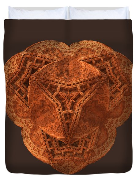 Duvet Cover featuring the digital art Carved by Lyle Hatch