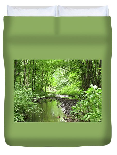 Duvet Cover featuring the photograph Carver Creek by Kimberly Mackowski