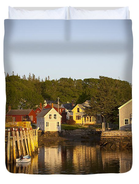 Carvers Harbor At Sunset, Vinahaven, Maine Duvet Cover