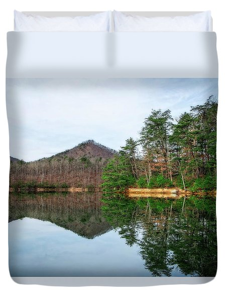 Duvet Cover featuring the photograph Carvins Cove  by Alan Raasch