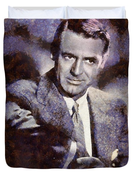 Cary Grant Hollywood Actor Duvet Cover by Esoterica Art Agency