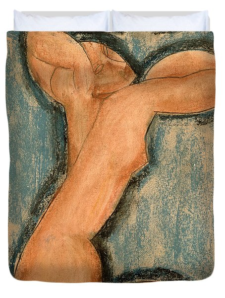 Caryatid Duvet Cover by Amedeo Modigliani