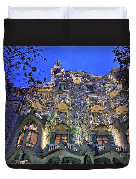 Casa Batllo In Barcelona Duvet Cover
