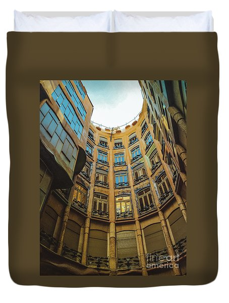Duvet Cover featuring the photograph Casa Mila - Barcelona by Colleen Kammerer