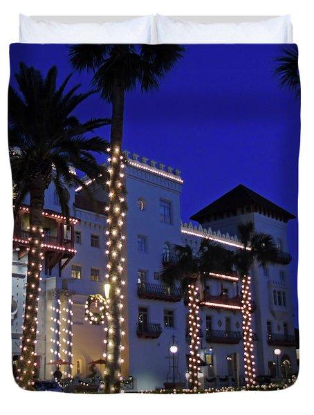 Casa Monica Inn Night Of Lights Duvet Cover