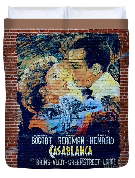 Duvet Cover featuring the photograph Casablanca Mural 2013 by Padre Art