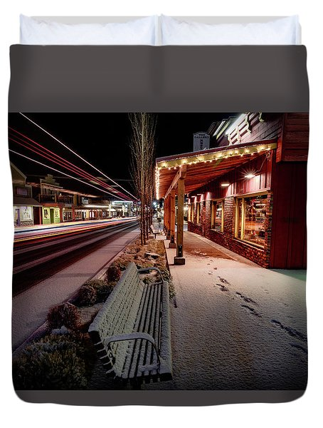 Duvet Cover featuring the photograph Cascade Avenue by Cat Connor