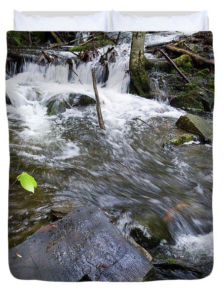 Cascade Falls Stream, Farmington, Maine  -30329 Duvet Cover