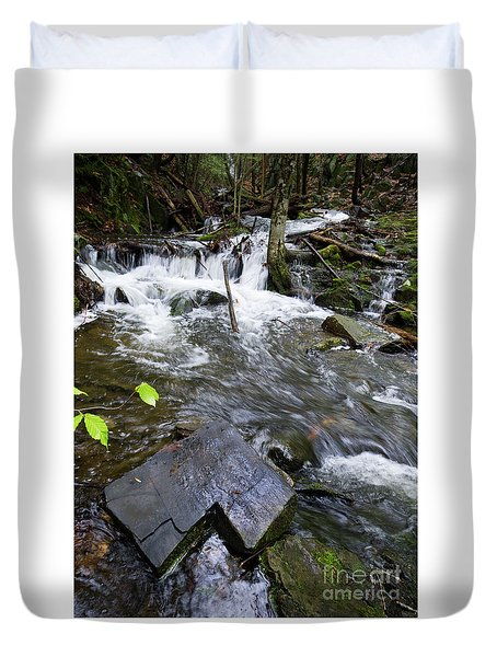 Cascade Falls Stream, Farmington, Maine  -30329 Duvet Cover