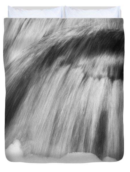 Cascade In Monochrome Duvet Cover