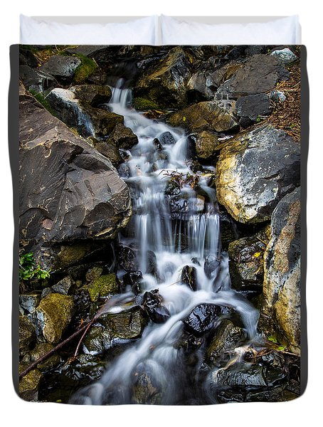Duvet Cover featuring the photograph Cascade by Keith Hawley