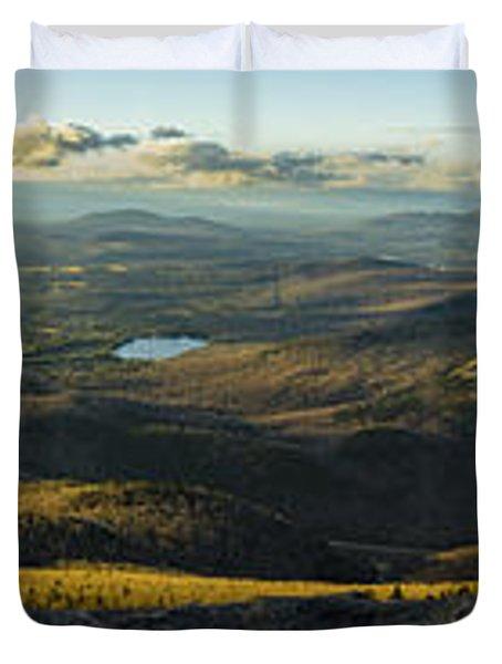 Cascade Mountain Sunset Duvet Cover