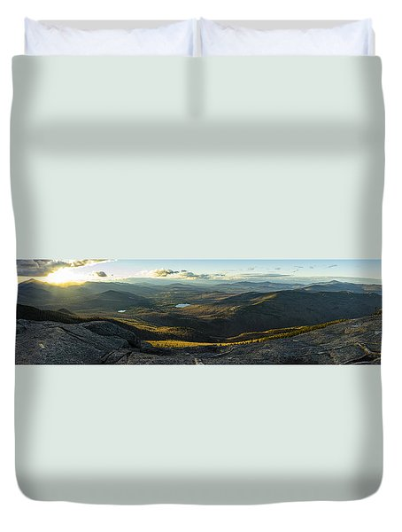 Cascade Mountain Sunset Duvet Cover