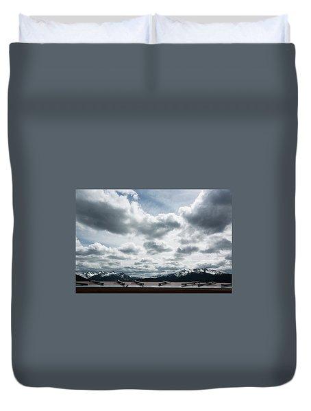 Duvet Cover featuring the photograph Cascade Outlook Manning Provincial Park by Elvira Butler